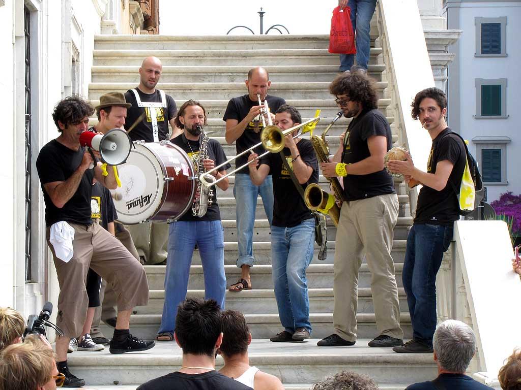 Bobo Rondelli and Spazio Zero, Town Hall staircase, Livorno