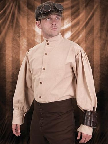 Nude Steampunk Engineer Shirt for Men