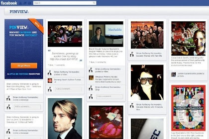 Mengubah Tampilan Facebook Menjadi Seperti Pinterest