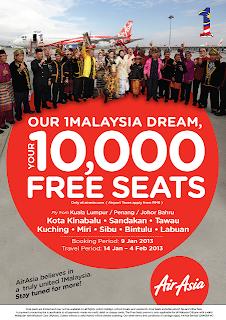 10000, tiket, air, asia, percuma, untuk, rakyat