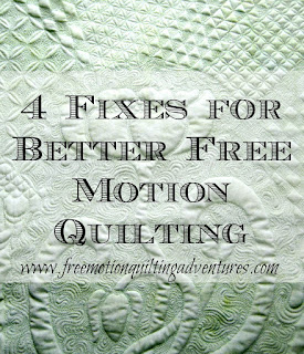 Amy's Free Motion Quilting Adventures 4 Fixes