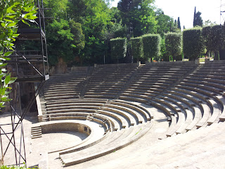 Greek Amphitheatre in Barcelona - Side View