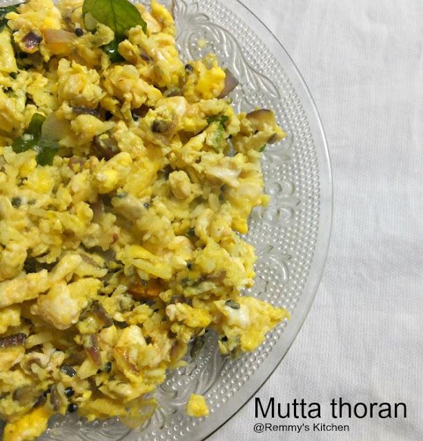 Mutta thoran / Egg stir fry