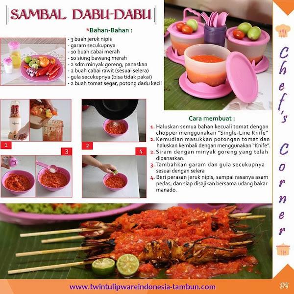 Chef's Corner : Resep Sambal Dabu - Dabu