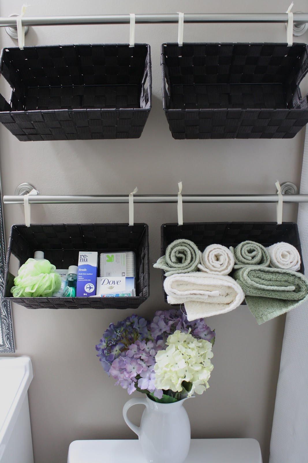 Bathroom wall storage baskets - A Wall Full Of Baskets