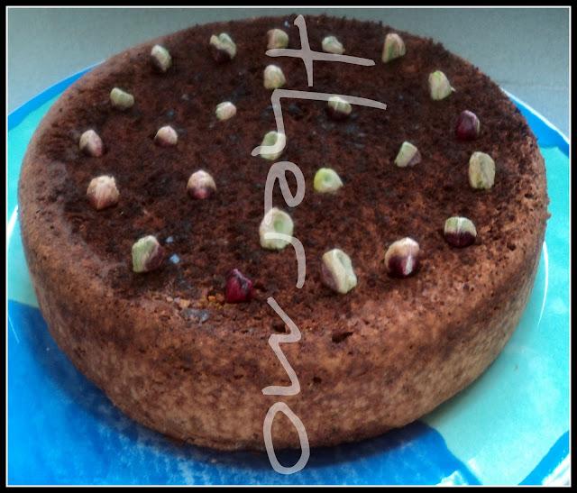 Bizcocho de chocolate y pistachos receta casera