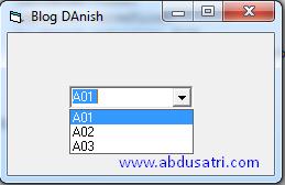 cara mengisi combobox dari database