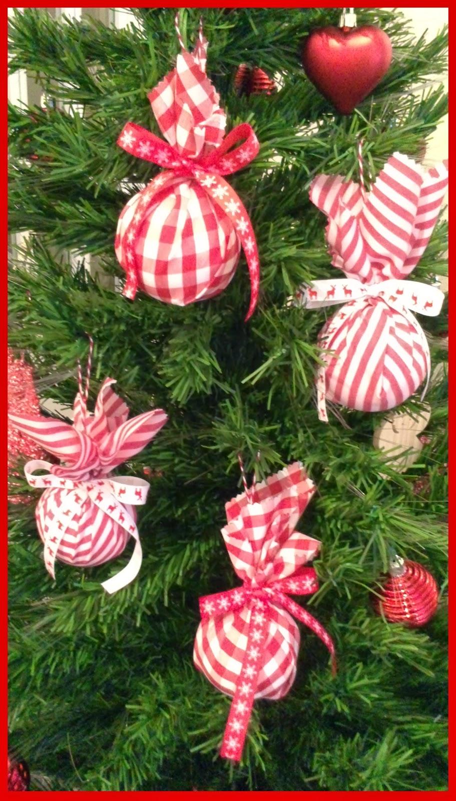 bolas de navidad con tela