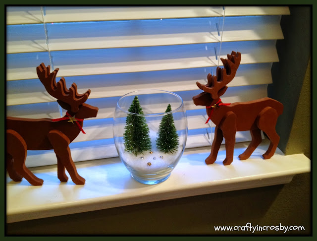 Dollar Tree, bottle brush trees, Christmas Village, easy Christmas decorations,