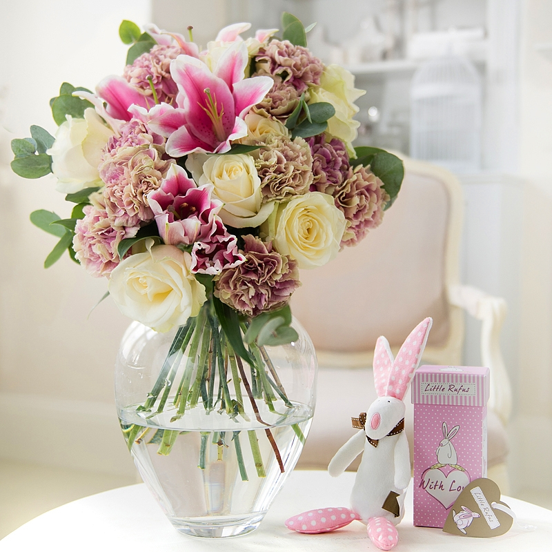 Baby Boy Gifts Debenhams : This set includes a beautiful bouquet of flowers and