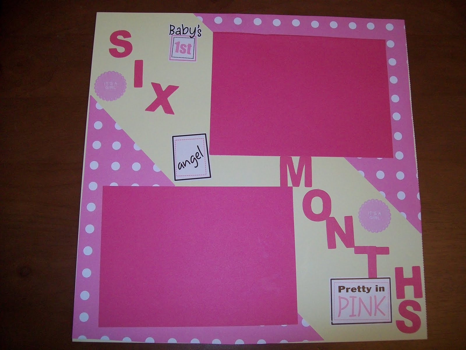Scrapbook ideas for baby girl - Here Are Photos Of Pages Of A Pre Made Baby Girl Scrapbook That I Made For A Gift