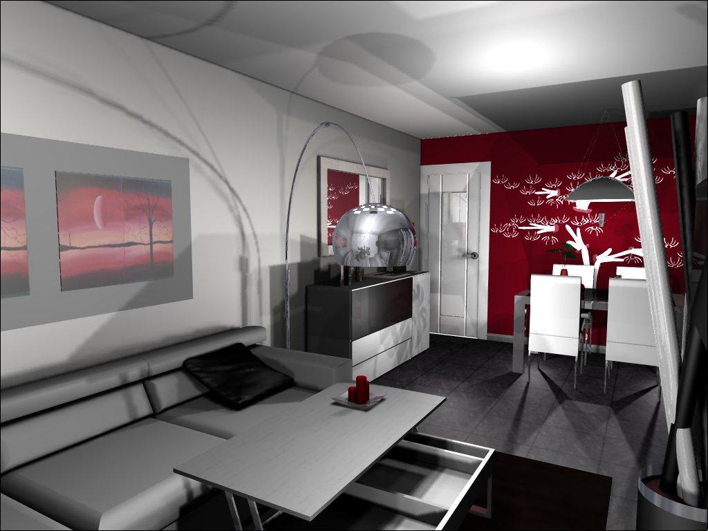 Salon comedor rectangular finest salon comedor - Amueblar un salon ...