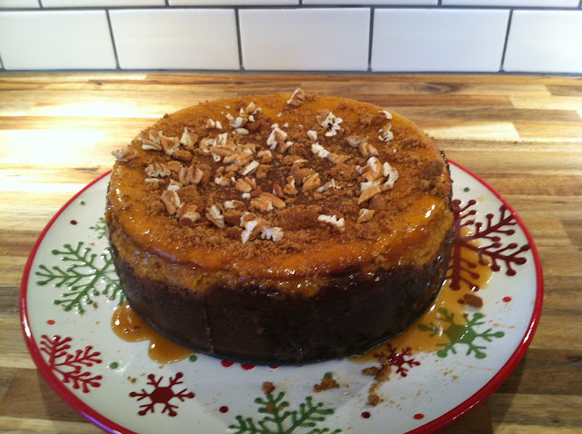 Eat, Create, Love: Caramel Pumpkin Gingersnap Cheesecake