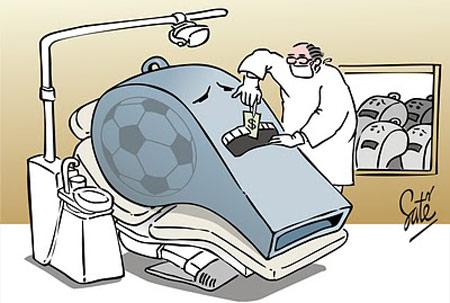 Biếm họa gian lận trong bóng đá