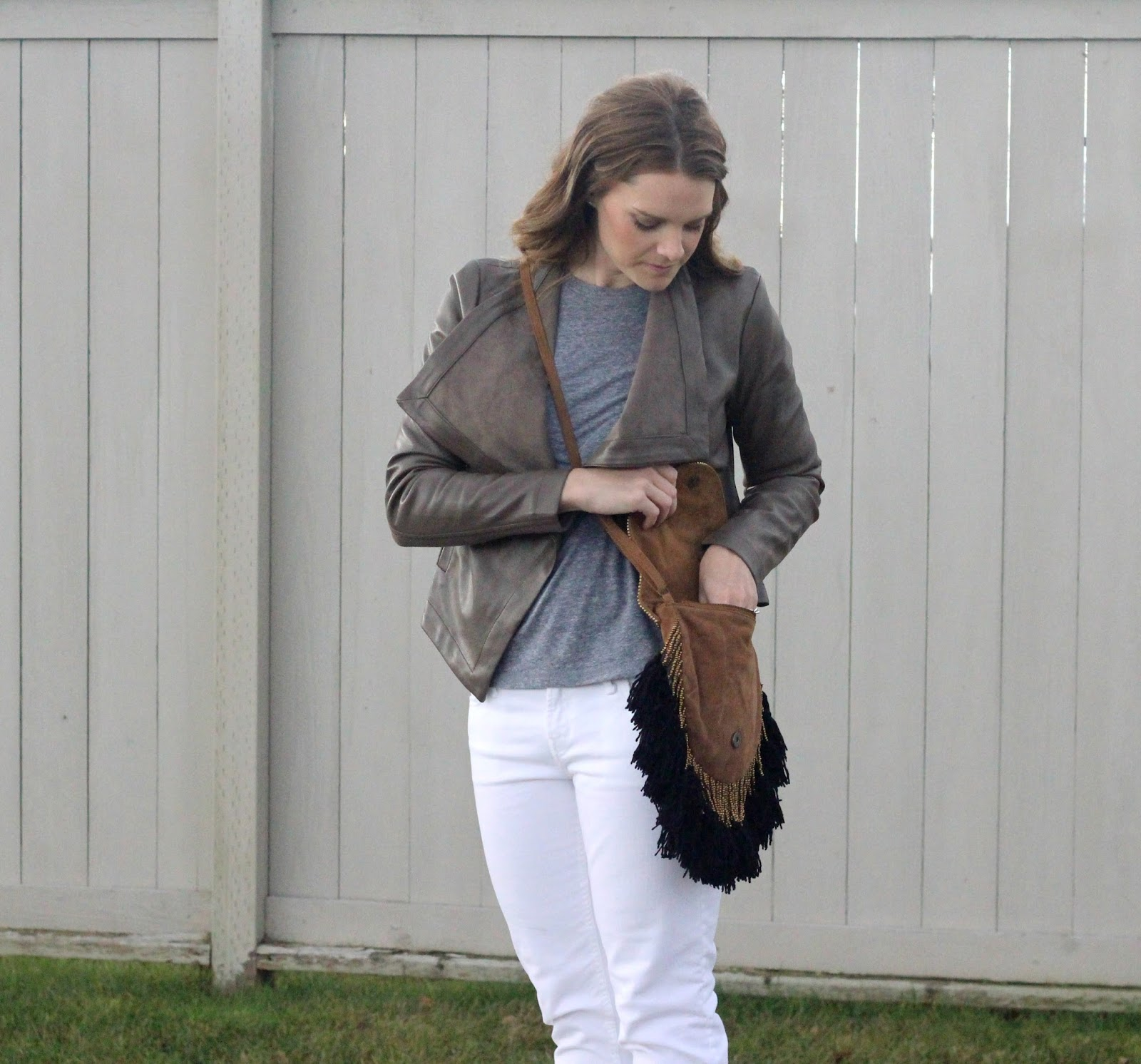 fall style with fringe and boots