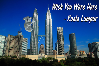 Welcome to Koala Lumpur postcard
