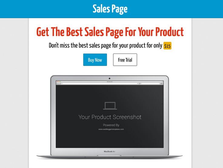 Chia sẻ Template Blogspot làm trang bán sản phẩm