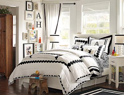 dormitorio juvenil blanco y negro