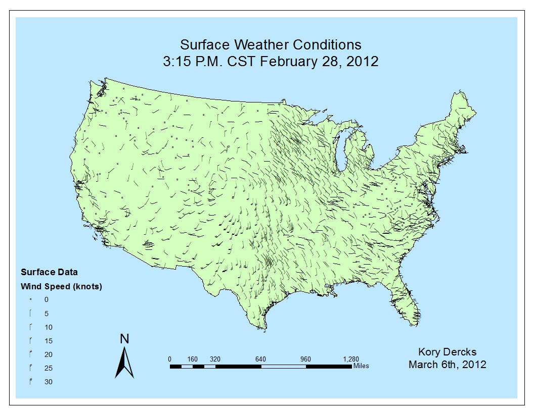this is a map from exercise 1 showing the jet stream over the united states on february 9 2012 you can a trough in the jet stream that extends very far to