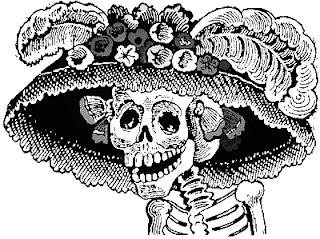 Calaveras día de muertos para colorear