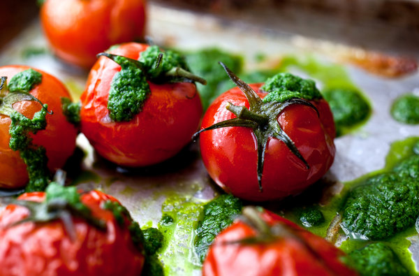 The Recipe File: Slow-Roasted Cherry Tomatoes With Basil Oil
