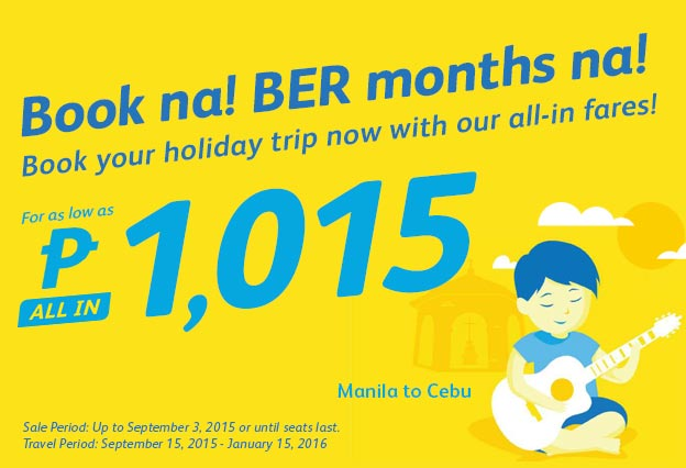 Manila to Cebu Cebu Pacicif Promo Ticket