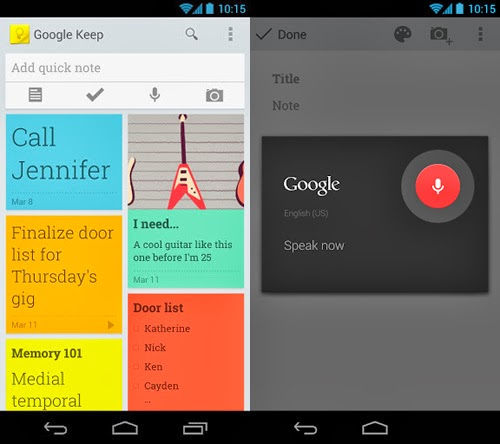 Google Keep-Android note-taking app