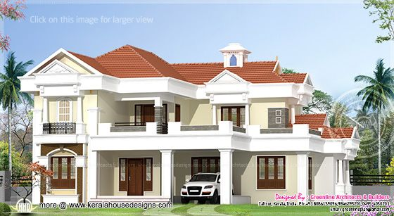 2560 sq-ft villa elevation