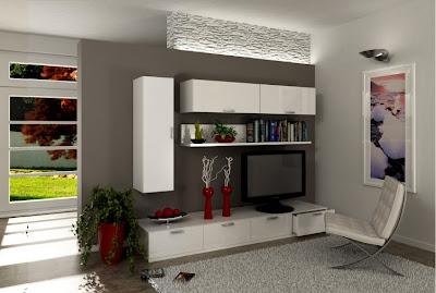 Mobile soggiorno moderno 100% legno riciclato Pannello Ecologico