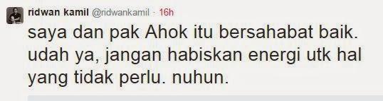 "Ridwan Kamil Bikin Pendukung Ahok ""KO"""