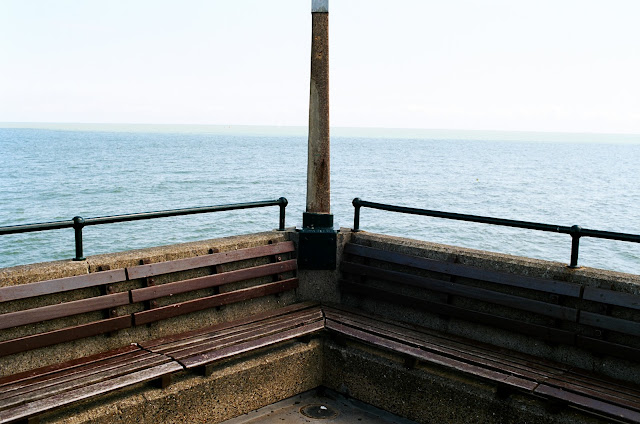 View to France bench, Deal Pier, Kent