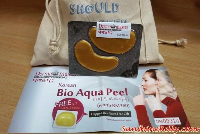 Derma Master Gold Eye Mask, Derma Master Korean Bio Aqua Peel facial, Gold Mask, The Genteel Women Bag of Love Review, The Genteel Women, Bag of Love, beauty bag Review, beauty box review, beauty review