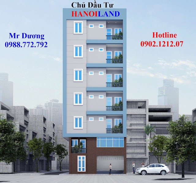 Phối cảnh mặt tiền tòa chung cư mini Nhật Tảo 7 giá rẻ Đông Ngạc, Bắc Từ Liêm, HN
