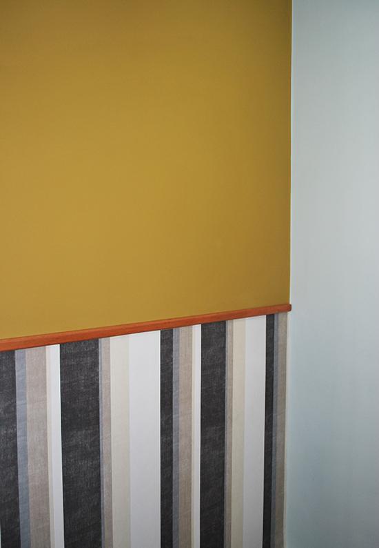 papel de parede, ouro monarca, ochre gold, wallpaper, decoração, decor, parede colorida
