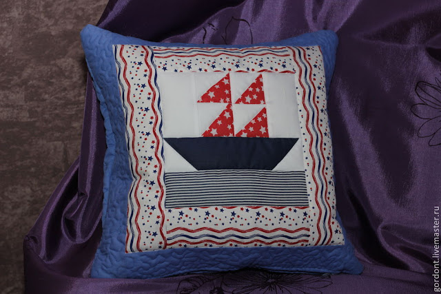 подушка с корабликом