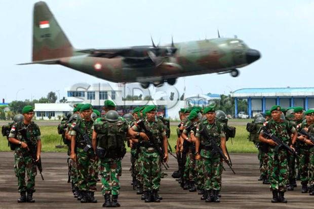 TNI Luruskan 16 Patok Perbatasan RI-Malaysia yang Bergeser