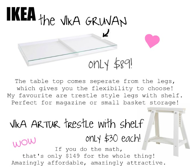 can you see yourself getting work done at this gorgeous desk i sure can black ikea glass top desk