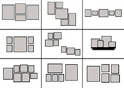 Diferentes formas de colocar grupos de cuadros