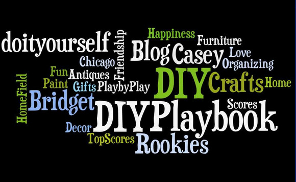 Here's a simple wordle I made for the DIY Playbook.
