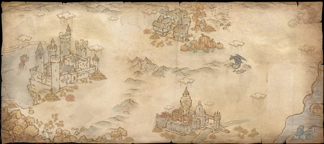 Mappa autunnale in versione Halloween