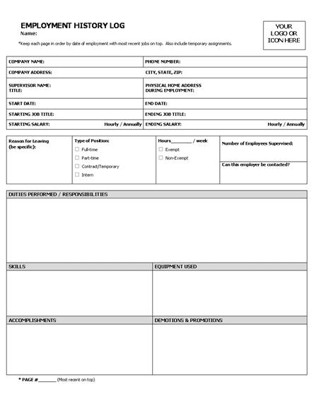 free employee application templates
