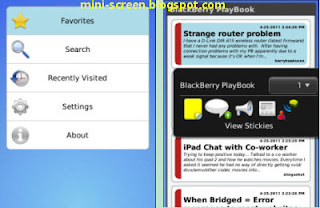 Tapatalk Social Forum App: Blackbery Phone Interface