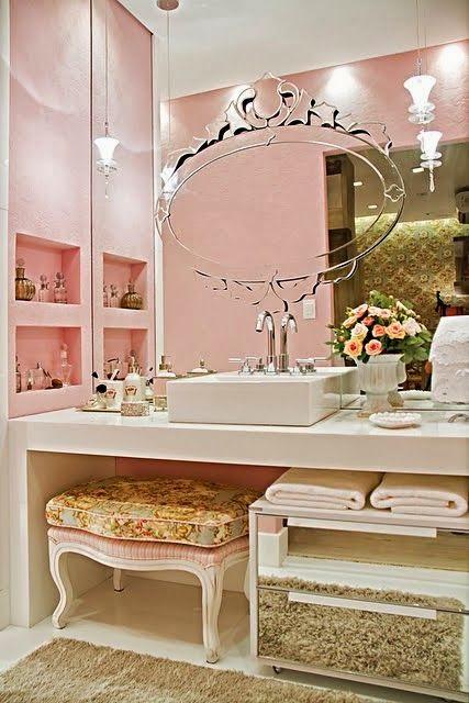 PRATELEIRAS E NICHOS NO BANHEIRO  Papo de Design -> Decoracao Banheiros Estilo Provencal