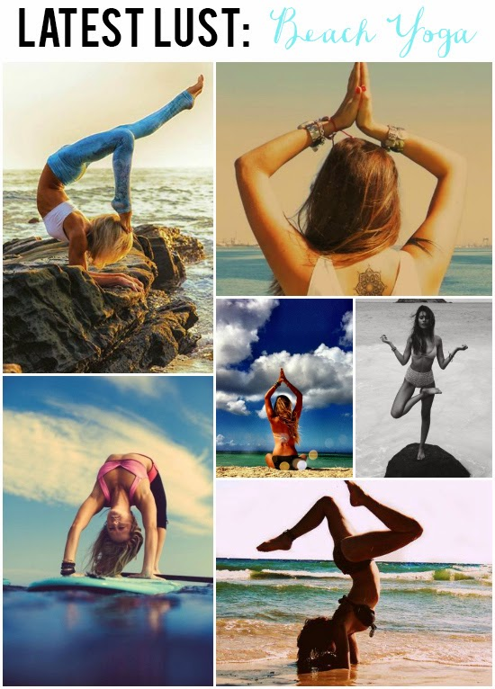 Latest Lust: Beach Yoga