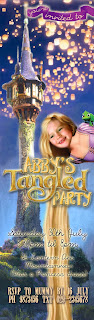 Tangled Party Personalized Invitation - tall format