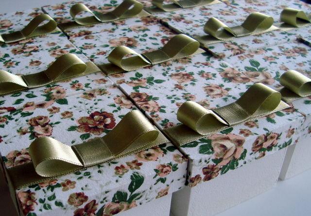 Verde Pistache Caixinhas para Madrinhas