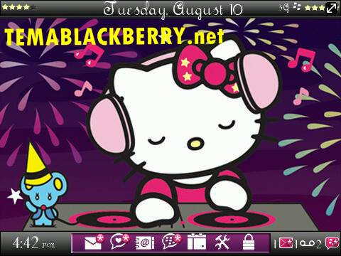 Tema Blackberry Kartun Lucu Hello Kitty