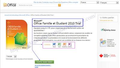 Partage informatique t l charger microsoft office 2010 - Office famille et petite entreprise 2010 ...