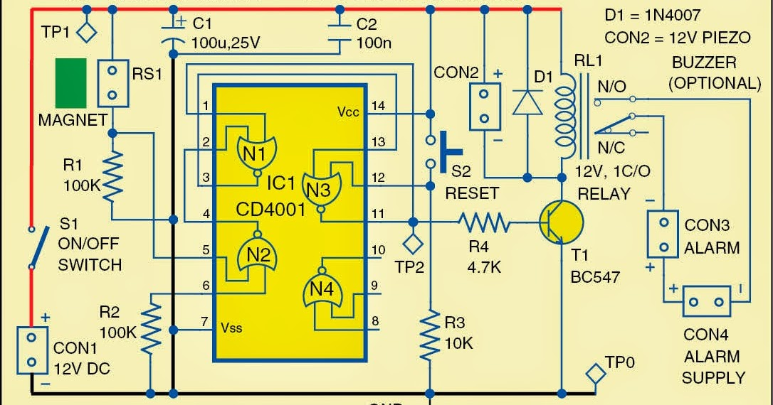 Locker Security Alarm Wiring Diagram Schematic    Diagram