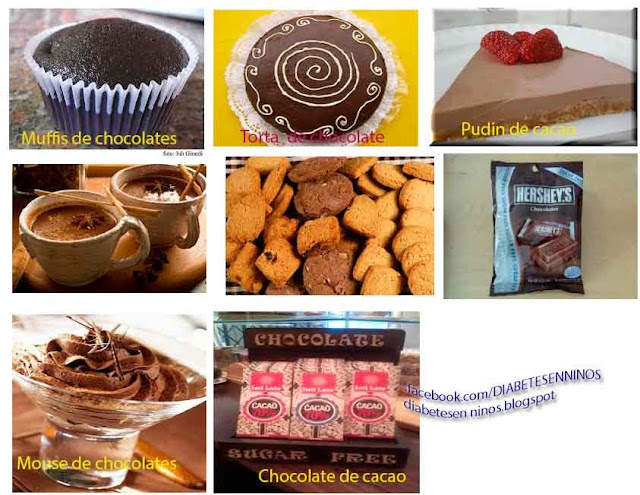 CHOCOLATES Y POSTRES PARA DIABETICOS
